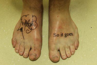 Kurt Vonnegut tattoos
