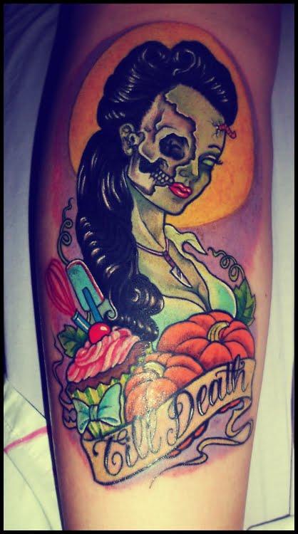 tatuaje chica zombie