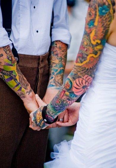 Tatuajes parejas casadas
