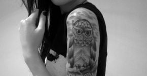 Owl tattoo for girl