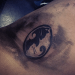 Ying Yang Cats tattoo