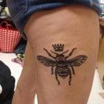 Tatuaje de clave de los en brazo