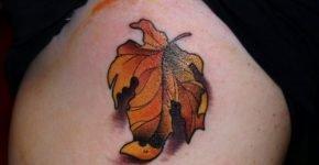 tatuaje otoño