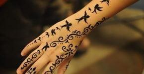tatuaje de Henna para mujer