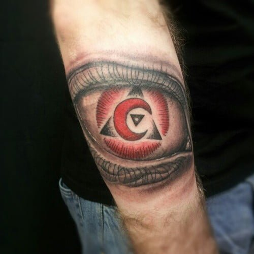 red moon tattoo - photo #7