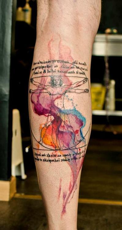 Tatuajes tipo acuarelas