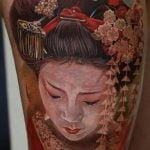 Tatuaje de chica anime