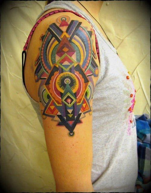 Shoulder tattoo for girl