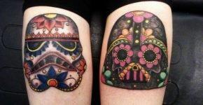 Skulls Star Wars tattoos