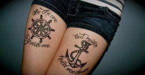 Tatuajes de timones y anclas
