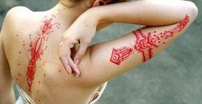 red tattoos