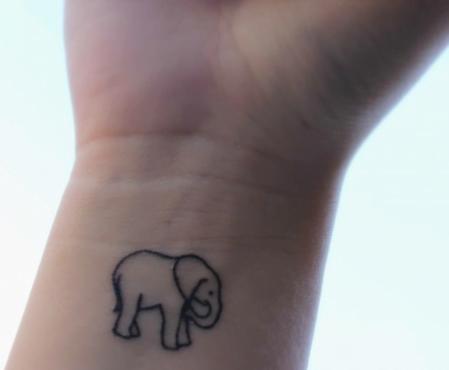 small elephant tattoo