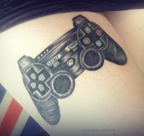 PlayStation controller tattoo