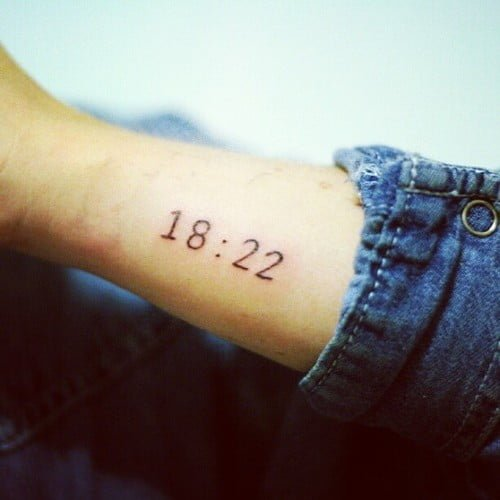 Tatuaje de la hora