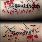 Tatuaje rosa morada