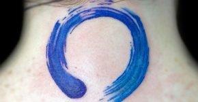 Tatuaje simulando pintura