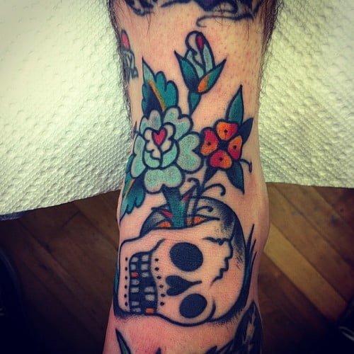 Tatuaje calavera estilo clásico