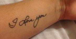 I love you tattooed