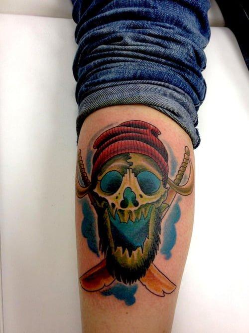 pirate tattoo skull