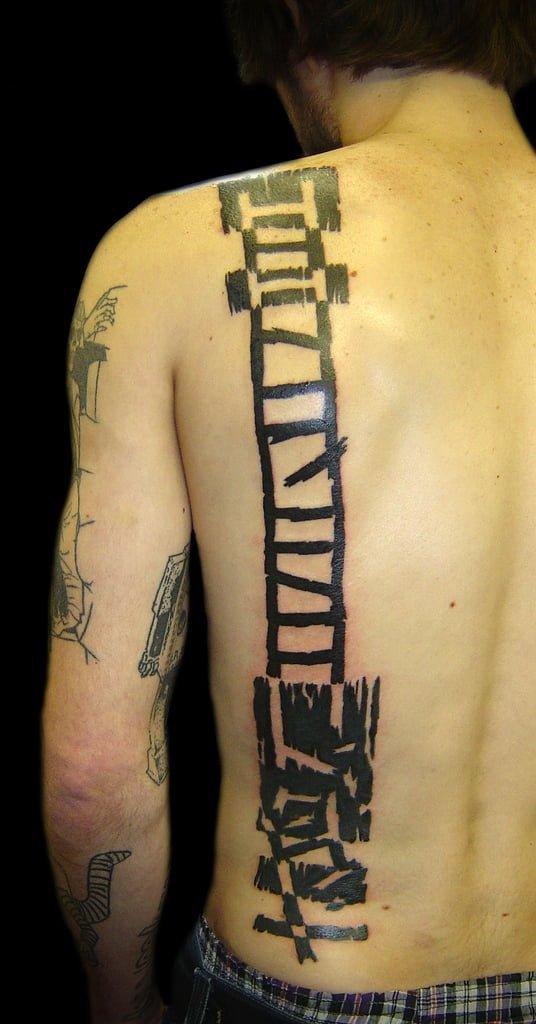 Stair tattoo