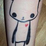 Tatuaje de búho en pecho