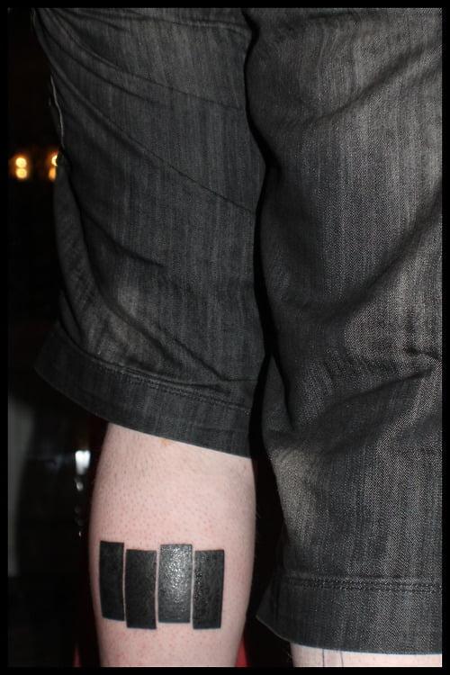 Tatuaje Black Flag Punk