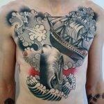 Tatuaje craneo de toro