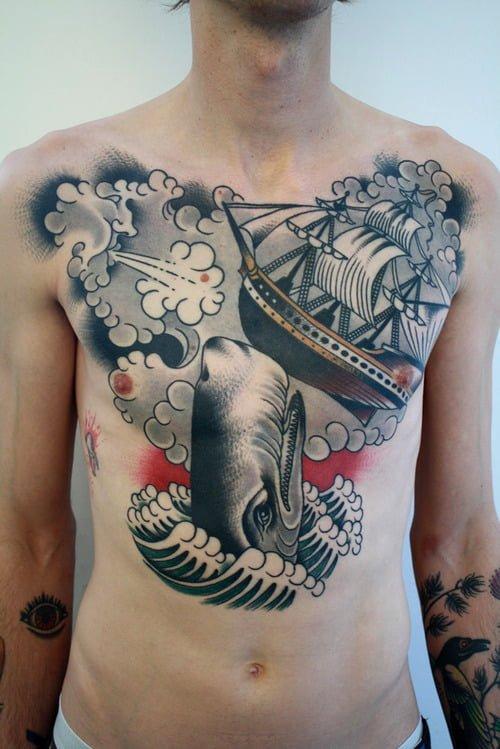 Tatuaje de Moby Dick