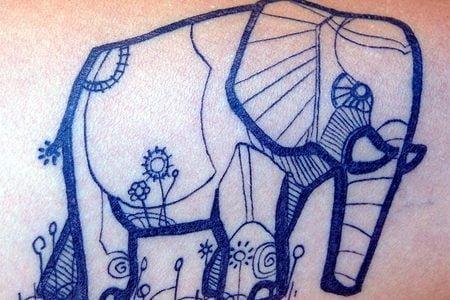 Elephant tattoo by David Hale