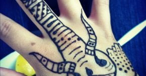 Tatuaje de elefante en henna