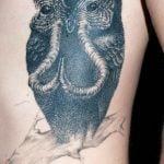 Tatuaje realista de un pulpo