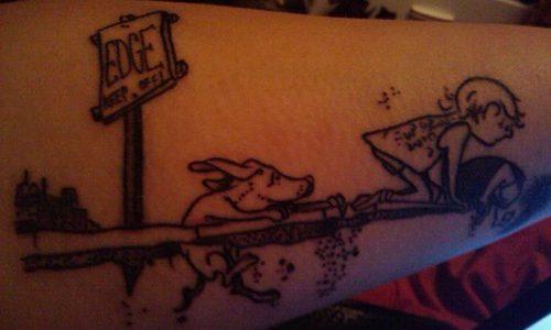 tatuaje caricatura Shel Silverstein