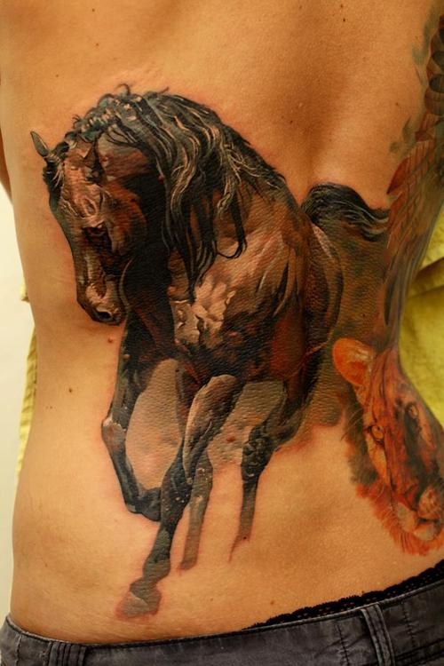 Horse Tattoo on the back