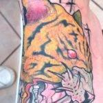 Tatuaje de búho por Peter Aurisch