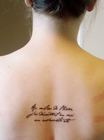 Albert Camus inspired Tattoos