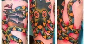 Tatuaje pulpo en mosaico