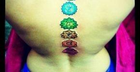 7 chakras tattoo