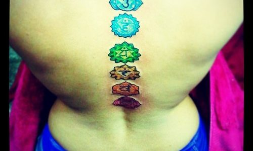 7 chakras tattoo