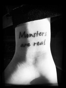 Tatuaje Monsters are real