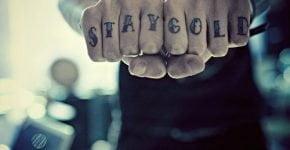 Stay Gold tattoo