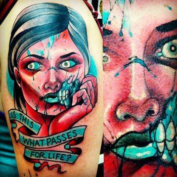 Zombie girl tatto