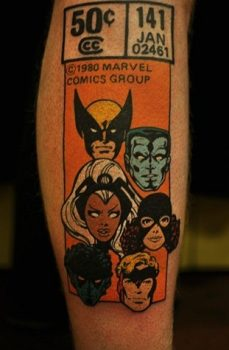 Clasic comic tattoo