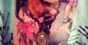 Eckel tattoo of a bat