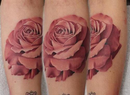 A rose tattoo