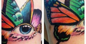 Eye Butterfly tattoo