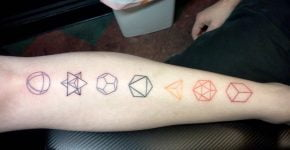 Platonic solids tattoo