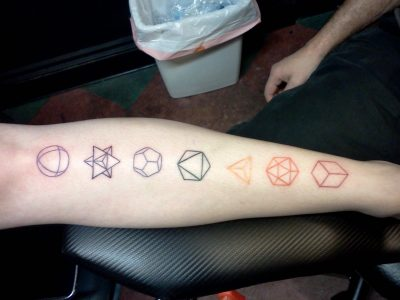 Platonic solids tattoo