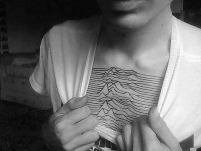 Joy Division chest tattoo
