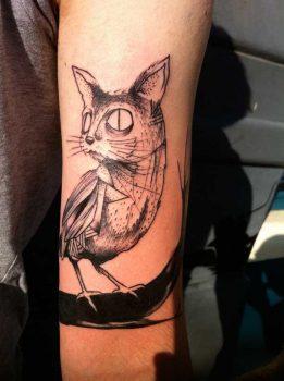 Cat-Bird tattoo