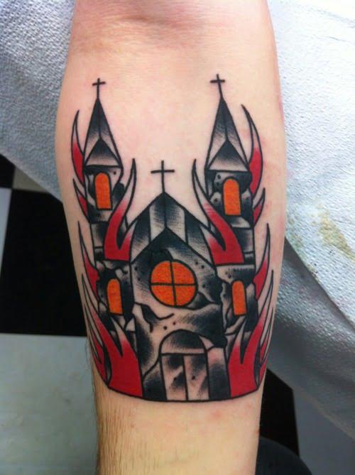 Dark cathedral tattoo